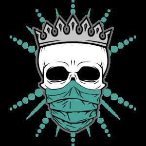 Masked Skull - Schädel mit Mundschutz