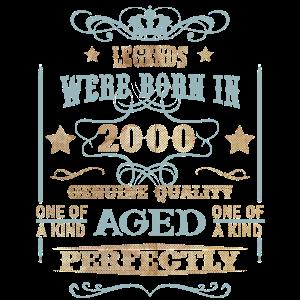 Jubiläum 2000 Vintage Legende wurden in geboren
