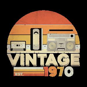 Vintage 1970 50. Geburtstag Fünfzig Jahre Geschenk