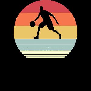Basketball-Produkt. Dribble-Druck im Retro-Stil