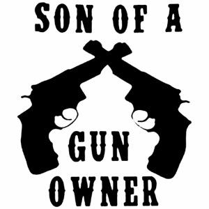 Black Design Son Of A Gun Owner