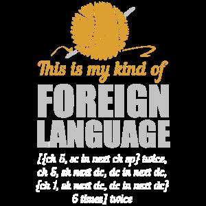 Stricken Fremdsprache Lustig