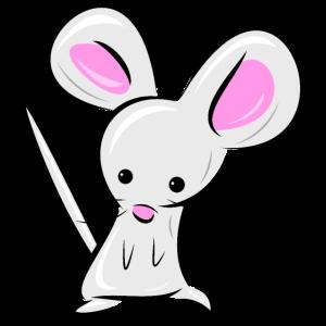 Maus - kleine Maus mit rosa Ohren - schönes Tier