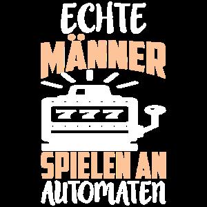 ECHTE MÄNNER SPIELEN AN AUTOMATEN