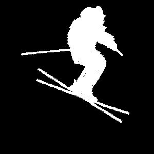 Skifahrer Geschenk für Winterurlaub