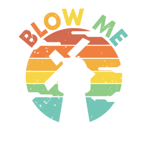 Blow Me   Retro Sonnenuntergang Windmühle