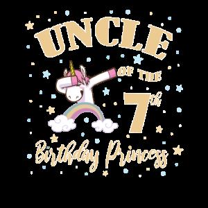 Onkel des 7. Geburtstags Prinzessin Mädchen Einhorn