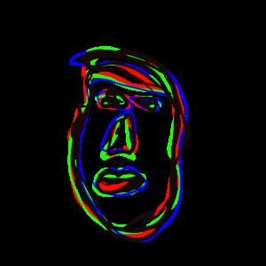 4 Farben Tusche Zeichnung