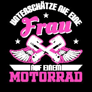 Motorrad Fahrerin Frau Frauen Geschenk
