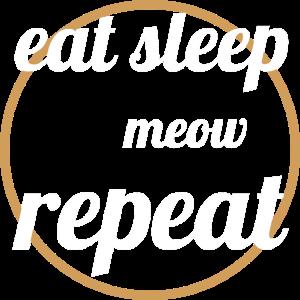 cats - eat sleep meow repeat