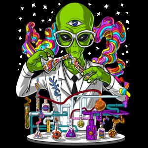 Alien Psychedelic Scientist