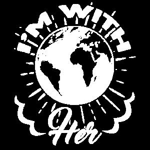 Tag der Erde Ich bin mit der Erde