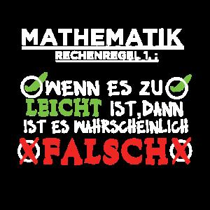 Mathematik Rechnen Aufgaben lustiger Mathe Spruch