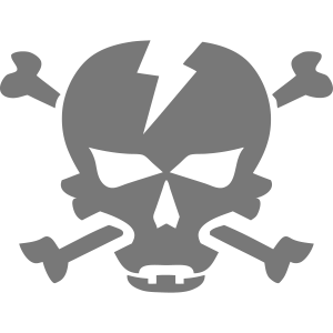 Schädelknochensymbol