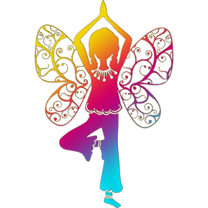 Yoga Mädchen, Flügel, Asana, Baum, Schmetterling