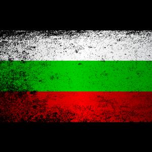Flagge von Bulgarien Grunge