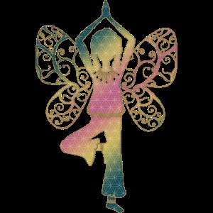 Yoga, Asana Baum, Blume des Lebens, Yogalehrer