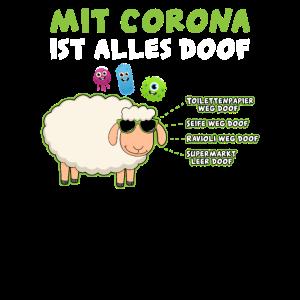 Mit Corona alles doof Virus & Schaf