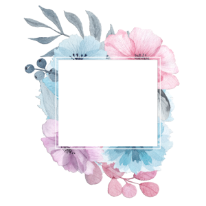Blumenstrauss Quadrat 4 personalisierbar