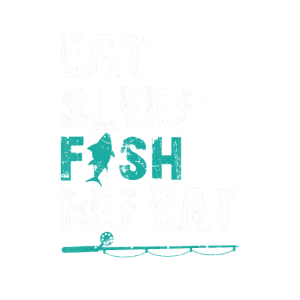 Eat Sleep Fish Repeat Distressed Fishing