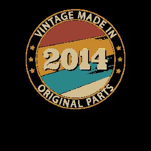 Vintage 2014 Alte Herren Männer 6 Geburtstag