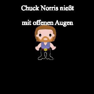 Chuck Norris Witz nießt mit Bild