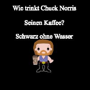Chuck Norris Witz Kaffee mit Bild