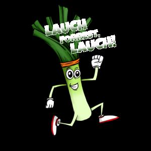 Witziges Lauch Design zum Joggen Laufen Marathon