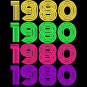 cooles 1980 Geburtstagsgeschenk Retro Geburtsjahr