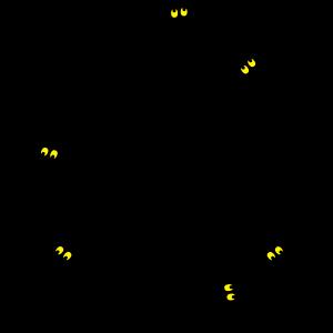 Sechs Eidechsen Friedenssymbol
