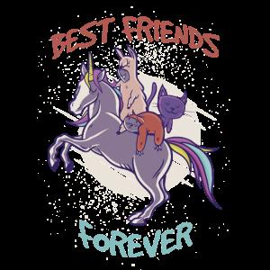 Best Friends Forever Einhorn Unicorn