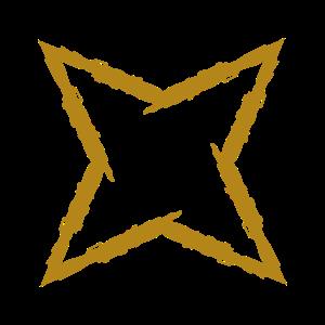 Wurfstern Gold Ninja