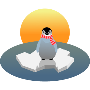 Pinguin Abenddaemmerung