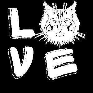 Love Maine Coon Katze Valentinstag