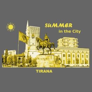 Summer Tirana Albanien City Sommer Rathaus Denkmal