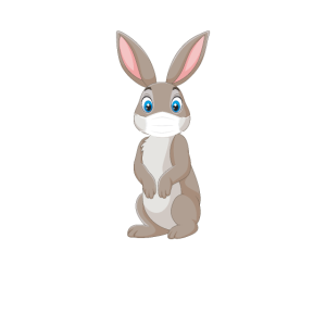 Frohe Ostern 2020 Osterhase mit Mundschutz Corona