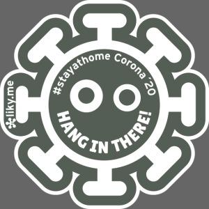 Corona Virus #stayathome grigio