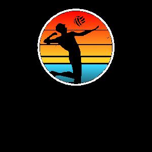 Retro Volleyballspieler Volleyball