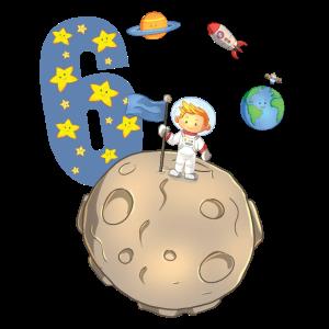Kinder 6.Geburtstag Geschenk Junge Rakete Weltall