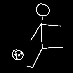 Strichmaennchen fussball weiss
