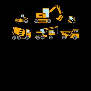 Baufahrzeuge - LKW, Bagger & Kräne