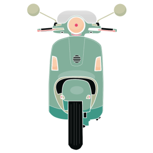 Grüner Roller