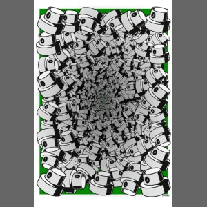 graffiti fat cap infinity flow poster green