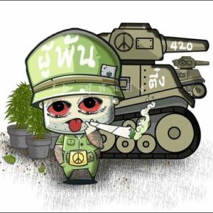 Kiffender Soldat inkl. Panzer Motiv