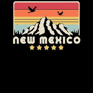 New Mexico Design. Retro Style NM, USA Produkt