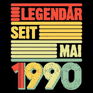 Legendär seit Mai 1990 30 Geburtstag Geschenkidee