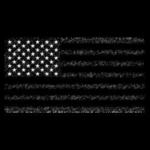 USA Flagge schwarz weiß Vintage Retro