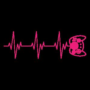 Controller Gamer Zocker Gaming Herzschlag Puls