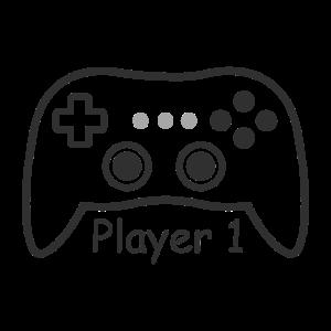 Player 1 Controller Game Gamer Zocken Zocker