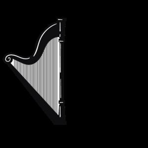 harfe Harfen Harfenistin Mädchen Instrument Spruch